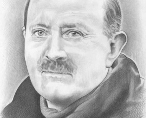 Portrait dessin d'un ancêtre d'après photo ancienne