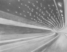 Vortex, 2013, crayon gris sur papier, 40x50 cm