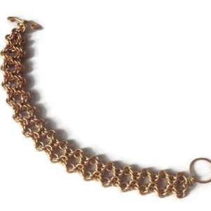 Brass Olivia Chainmaille Bracelet by Destai