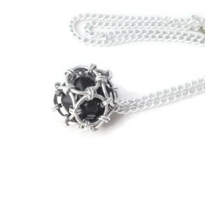 Caged D20 Pendant by Destai