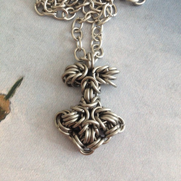 Mjolnir Chainmaille Pendant by Destai