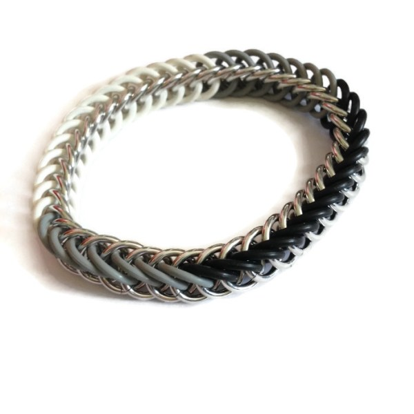 Monochrome Chainmaille Bracelet by Destai