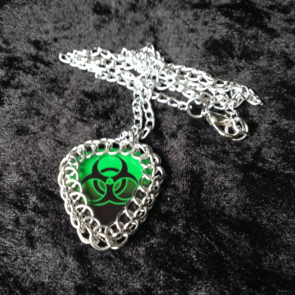 Chainmaille Wrapped Guitar Pick Pendant
