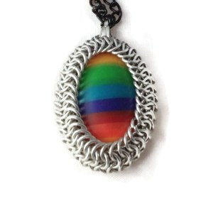 Wrapped Rainbow Pendant by Destai