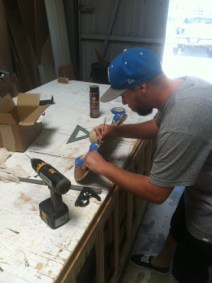 Wes making the prototype