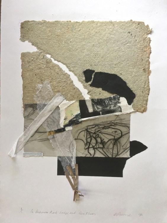 In Between Rock Ledge and Sea Floor, 2016, handmade paper and intaglio, 45 x 30 cm