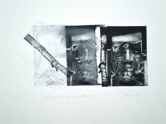 Return to the Sea Floor 3, 2010, intaglio and wash 15x28 cm print, 35x50 cm paper