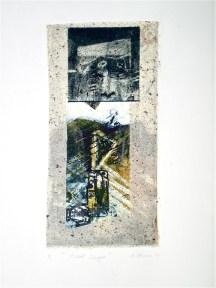 Tidal Surge, 2010, intaglio and collage 26x16 cm print, 48x35 cm paper
