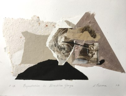 Expectation in Brachina Gorge, 2016, etching collage and handmade paper on BFK Rives,