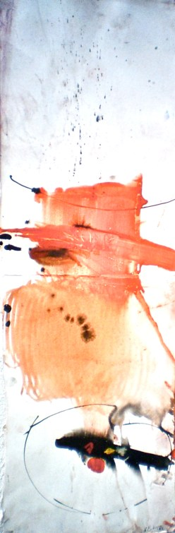 Ubirr Rock, 2003, pastel and ink , 102x30 cm