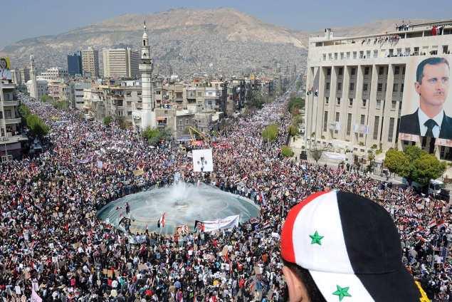 pro-Assad demonstratie