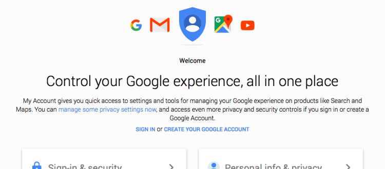 Google My Account Sign-in