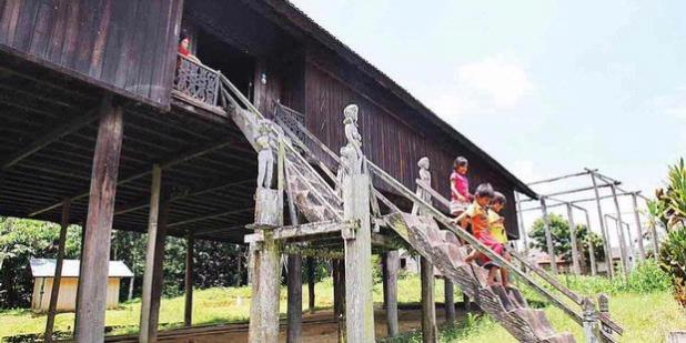 Rumah Adat Kalimantan Tengah - Betang Damang Batu