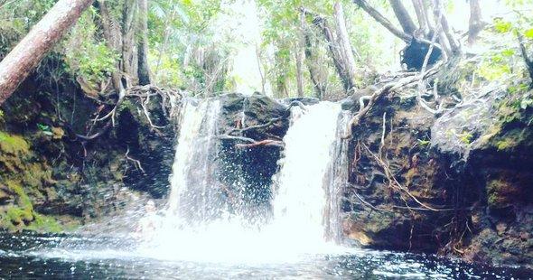 Wisata air terjun di kalimantan tengah - air terjun Patih Mambang