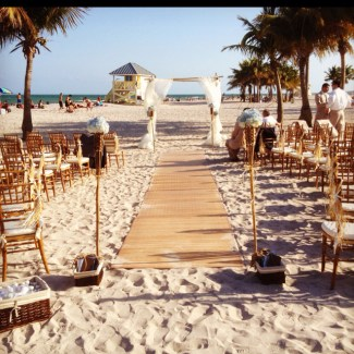 Beach wedding aisle ideas inspiration i destination wedding experts bamboo wedding asile runner junglespirit Image collections