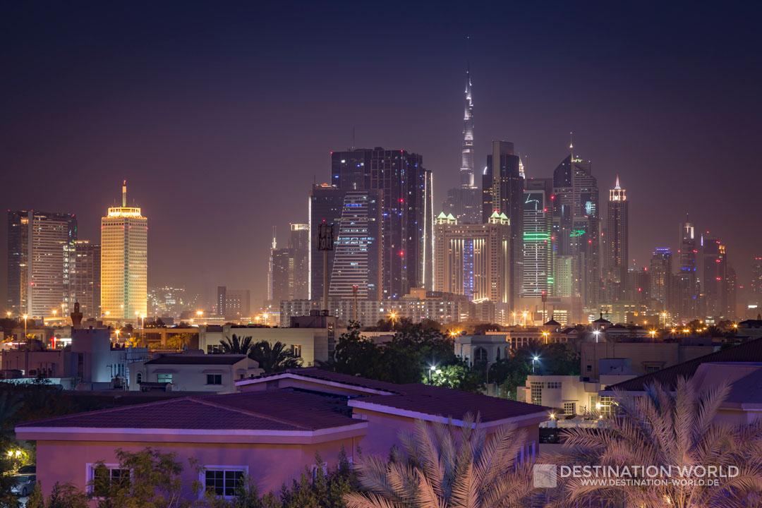 Blick aus dem Hotel in Bur Dubai