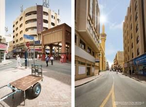 Gold Soukh und Straße in Deira