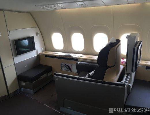 Lufthansa First Class Sitz 1k