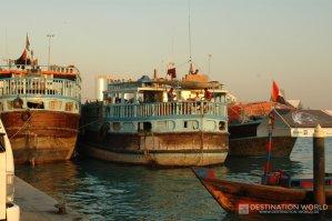 Dhow Lastenkäne am Hafen von Deira
