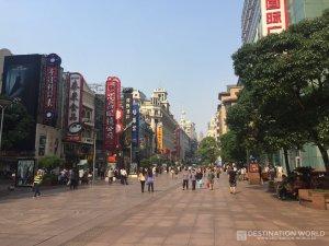 Die Nanjing Lu ausnahmsweise mal extrem leer