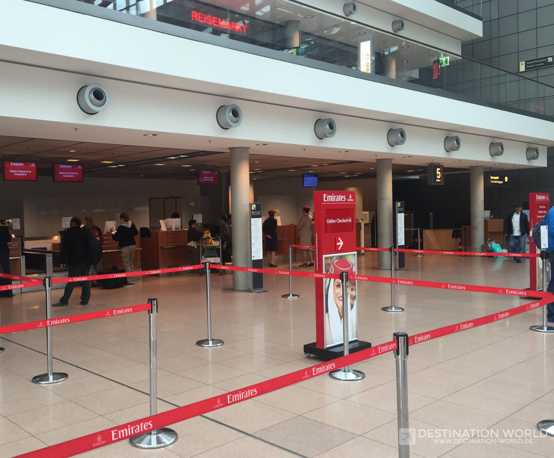 Online Check-In von Emirates in Hamburg