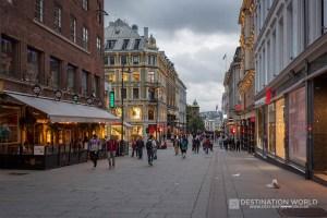 Fußgängerzone Karl Johans Gate in der Innenstadt