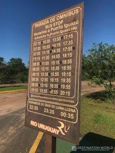 Abfahrtszeiten der Linienbusse nach Puerto Iguazú