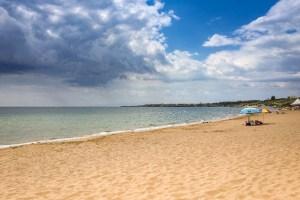 Der Strand, Blickrichtung Westen