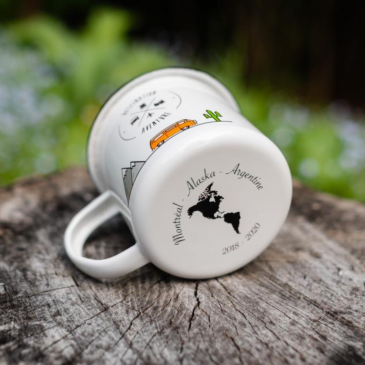 Camping Emaille-Tasse préférée Camper Camping Gobelet Tasse à café bürotasse