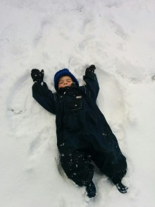 Obligatory snow angel pic.