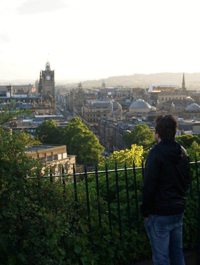 Sunset at Calton Hill Edinburgh