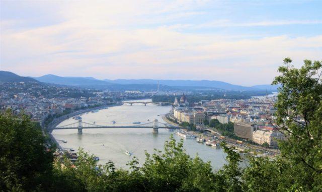 Udsigt Budapest Gellert-højen