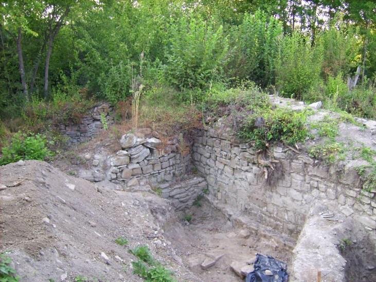 Северозапдната кула и част от крепостната стена