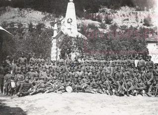Годишнина от Велчовата завера - 1935 г.; офицери и войници от Търновския гарнизон