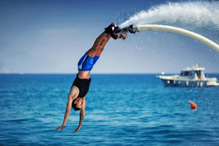 Défi jour 16 : Malte et le flyboard