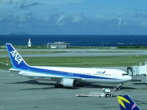 ANA plane in NAHA airport, Okinawa Main Island