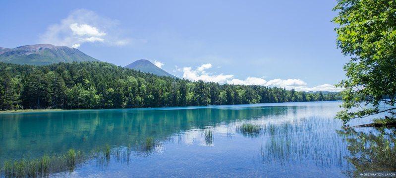 Vue du lac Akan