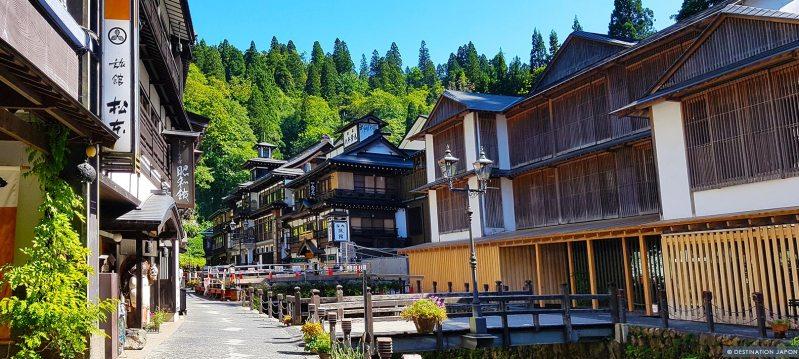 Rues pittoresques de Ginzan onsen
