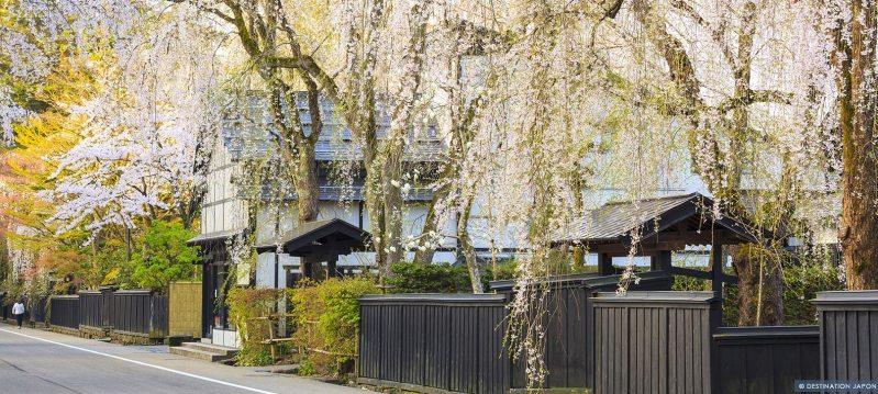 Quartier de l'époque Edo au printemps à Kakunodate