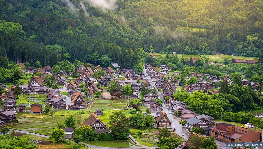 Vue du village Ogimachi de Shirakawago