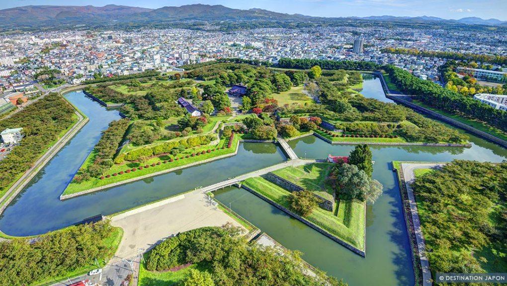 Le fort Goryokaku en forme d'étoile à Hakodate