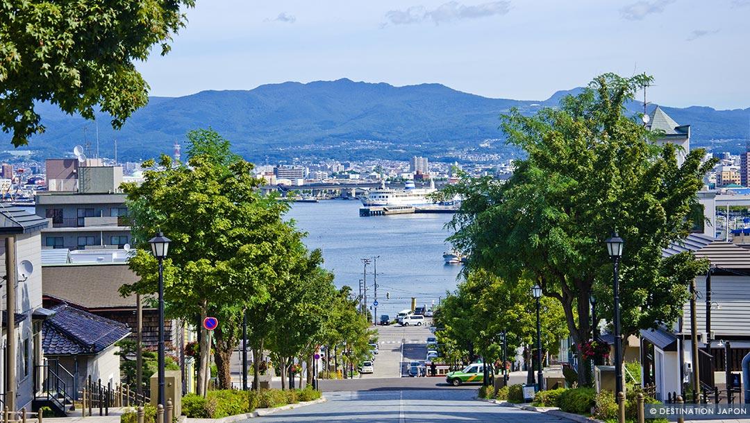 Rue Hachimanzaka et ses maisons occidentales à Hakodate