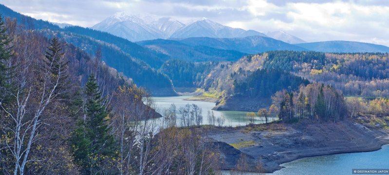 Vue du paysage de la vallée de Sounkyo