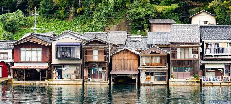 Funaya (maisons sur pilotis) à Ine, Kyoto