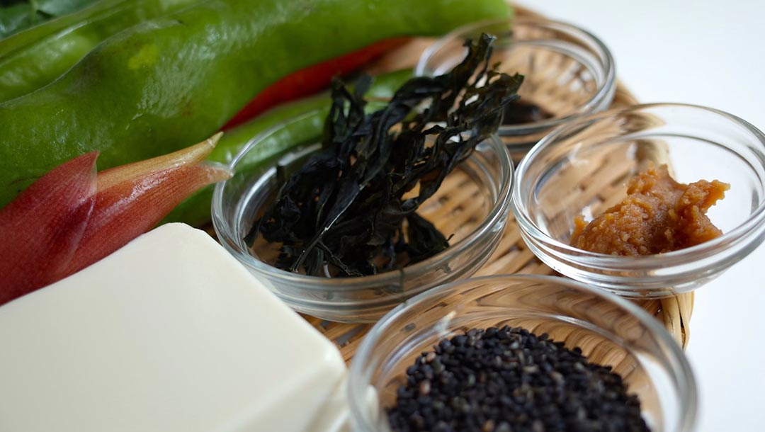 Ingrédients végétarien pour cuisine des moines