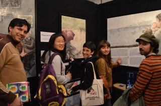 Reto, Mao, Elena, Katia et Giovanni découvrent le tadelakt