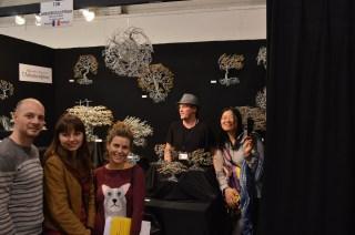 Les étudiants avec l'Arborisculpteur, Prix du public 2014