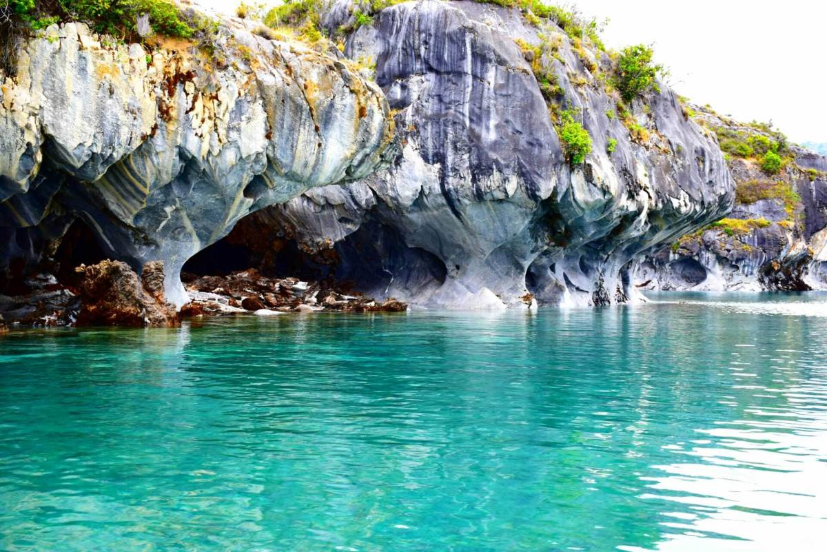 the marble caves in Patagonia Chile