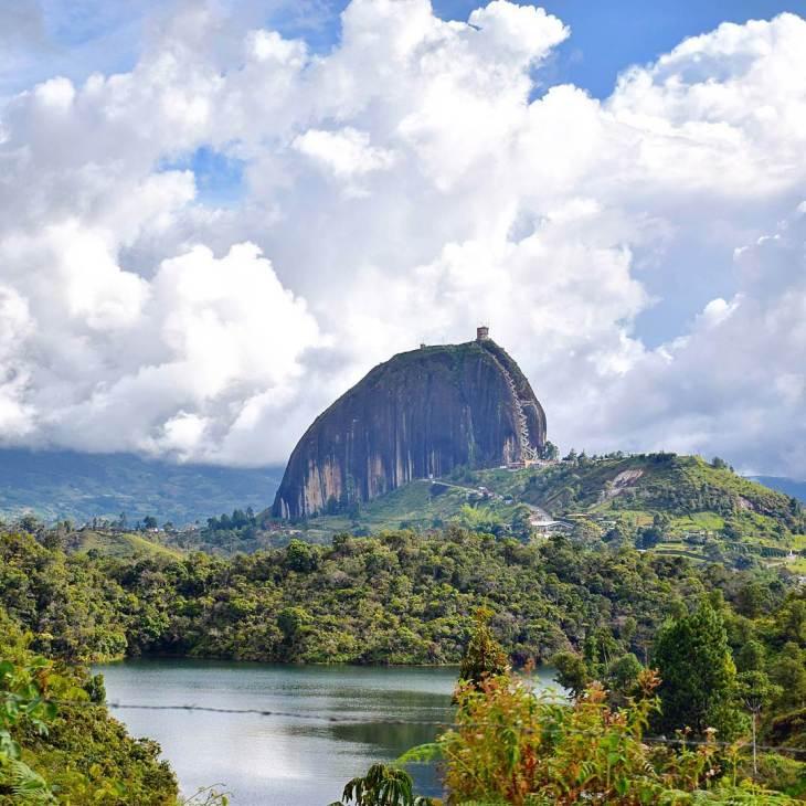 El penol in Guatape is a must visit when in Medellin