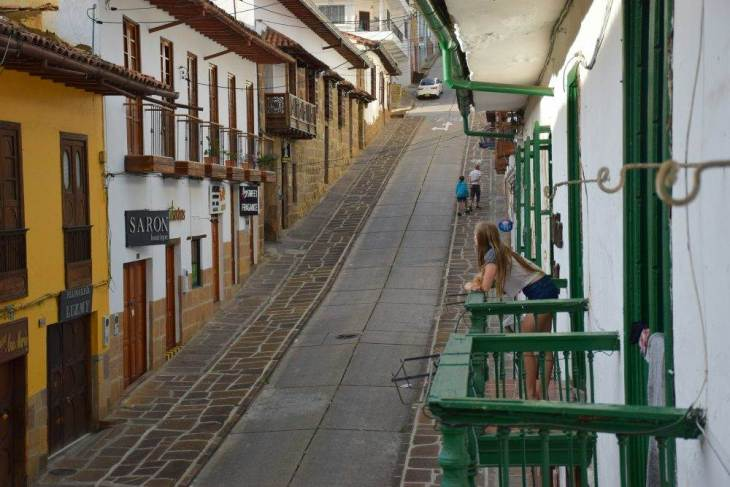 the quiet streets of san gil, colombia